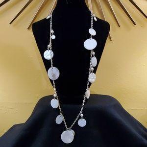 LOFT Ivory Dangle Disc Necklace #597